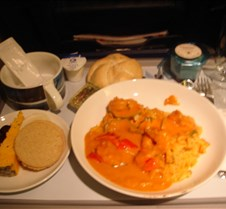 BA 559 - Lunch (Prawn Curry)
