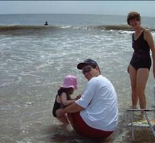 Caitlin, Brad and Kathy on Beach
