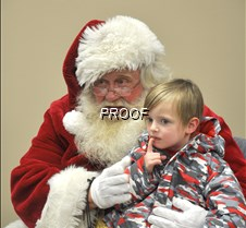 Santa visits with children