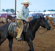 Cowboy & black horse