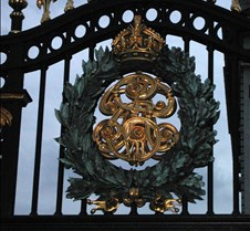 the Royal Crest at Buckingham Palace