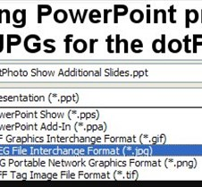 Saving JPGs for PowerPoint