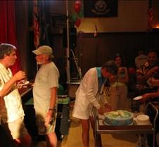 Jim enjoys some birthday cake