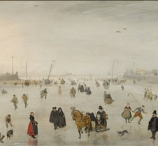 A Scene on the Ice - Avercamp - 1625 - N