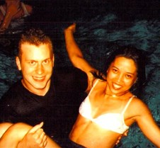 Bill & Donna enjoying a late night swim