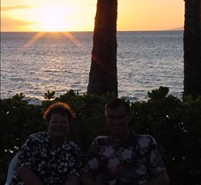 Mom and Dad at Sunset - 1