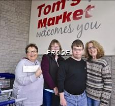 Tom's donation