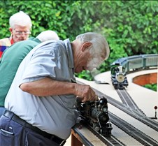 Dave Passard With His Live Steam Loco