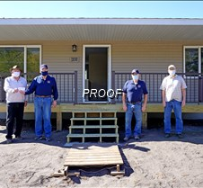 Habitat house donation from mens aux