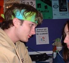 Aaron looking at Gwyn