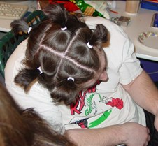 Upwards shot of Adam's hairdo