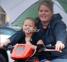 Little girl riding