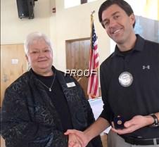 Jeremy receives Paul Harris Award