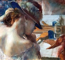 436In Front of the Mirror-Edgar Degas-18