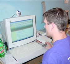 Eric doing research