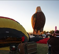 The Bald Eagle Balloon Awaits Launch