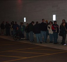 The line for trivia movie (Friday)