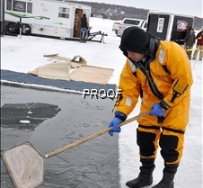 clearing the ice-B. B