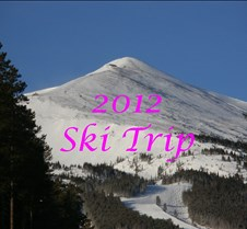 SkiTrip 2012 These photos document our two week ski trip with Dave starting January 22, 2012.  We stayed at a Gold Camp condo in Brekenridge, CO and had wonderful weather for the duration, with 8 inches of new snow.  We skied with our friends, Mike and lily and Dave's