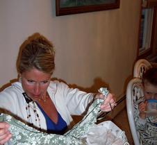 Jill opening presents