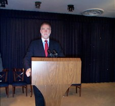 Chuck at podium