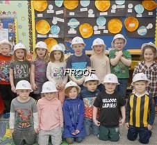 Preschool hard hats, Miss Karen's class