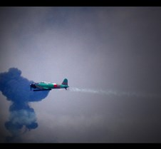airshow through the smoke