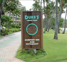 Duke's Restaurant sign