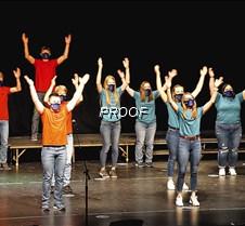 Jazz choir, arms up
