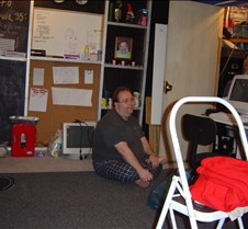 Trivia 2004 Steve working on network stu