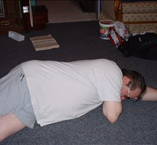 Dad on the floor