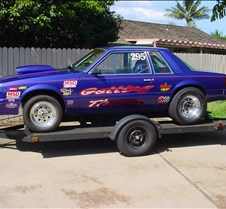 042805, races - new car New car to race, 83 Mustang, ex-police coupe.  11.90 class, 4.11 reaction time, 1.6 sixty foot times, 2nd qualifier for the night.  Lots of fun at Maui Raceway Park!  I am car # 007  Check it out online at www.mrp.org  