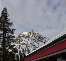 Squaw Valley Base Looking up Tramway
