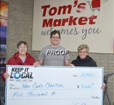 Tom's donates $5,000copy