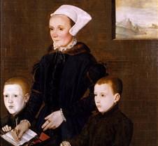 Alice Barnham and Sons-attr Hans Eworth-