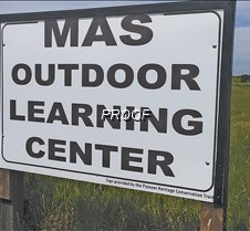 MAS outdoor learning center new sign