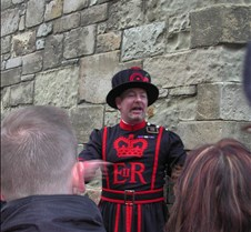 our guide at the Tower of London