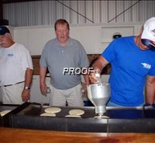 Pouring pancakes