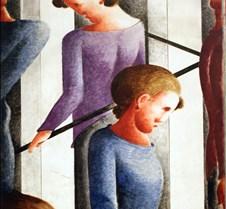 Stairway Scene-Oskar Schlemmer-1932- Kun