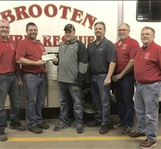 Brooten FD check award copy