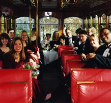 Wedding Party on Trolly