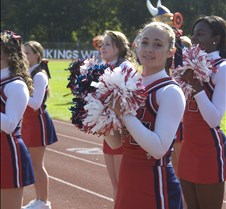 Mendham vs Par Hills Cheerleaders and sidelines