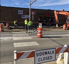 strand sidewalk closed