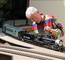 Eric Strauss with His Acucraft K-27 Loco