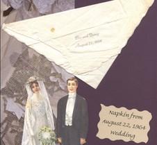 Bev and Dougs Wedding Napkin