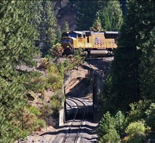UP-4809 Westbound Entering Williams Loop