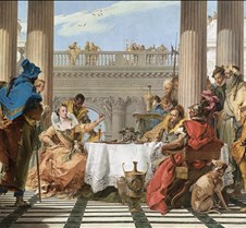 351Banquet of Cleopatra-G B Tiepolo-1743