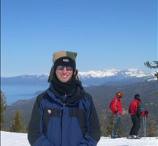 Josh with Lake Tahoe
