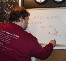 Mark writing on wipe-off board