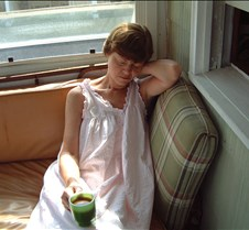 Kathy Sleeping on Porch